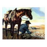 Cowboy Praying The Rosary Postcard