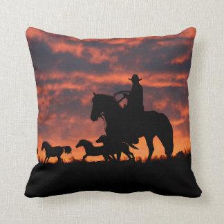 Cowboy Ranch Decor accent Pillow