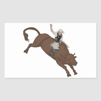 Cowboy Rectangular Sticker
