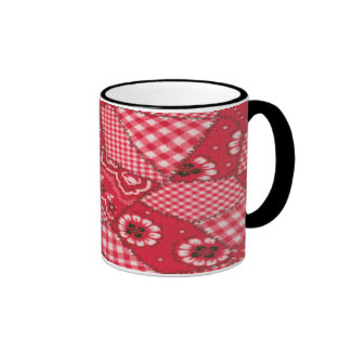 Cowboy Red Bandana Full Wrap Ringer Ringer Mug