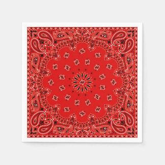 Cowboy Red Paisley Bandana Scarf BBQ Picnic Napkin Paper Napkins