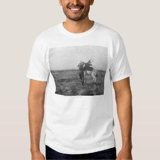 "Cowboy ""Red Saunders"" Saddles a Bronco Tees"