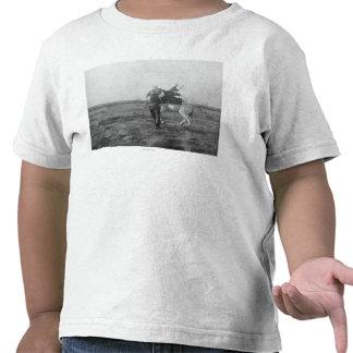 Cowboy Red Saunders Saddles a Bronco Tshirts