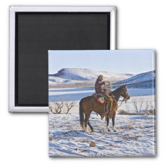 Cowboy riding a horse on the range on The Magnet
