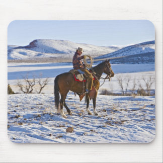 Cowboy riding a horse on the range on The Mouse Mat
