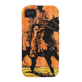 Cowboy riding horseback in desert Case-Mate iPhone 4 cover