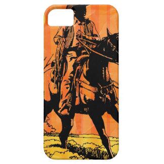Cowboy riding horseback in desert iPhone 5 cover