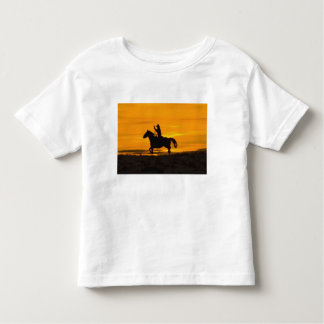 Cowboy riding in the Sunset with lariat Rope 2 Toddler T-Shirt