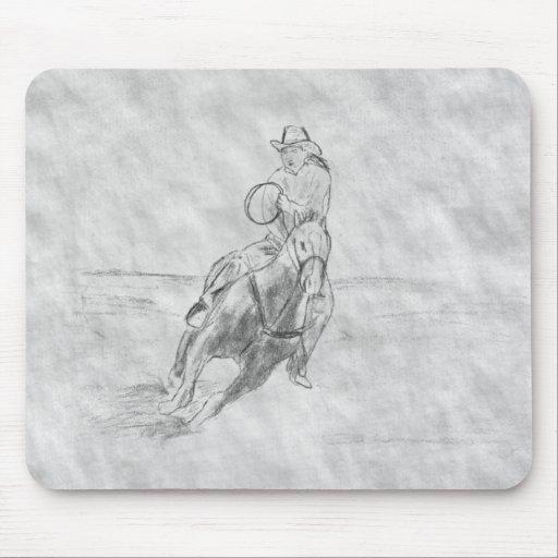 Cowboy Riding Mouse Pads