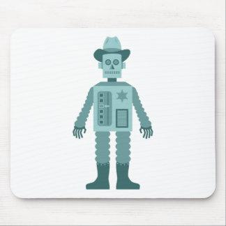 Cowboy Robot Mousepads