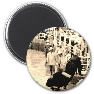 Cowboy Rodeo 6 Cm Round Magnet