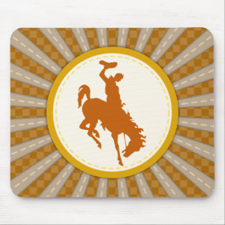 Cowboy Rodeo Yellow Gold Mouse Pad