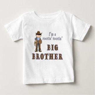 cowboy rootin tootin big brother baby T-Shirt