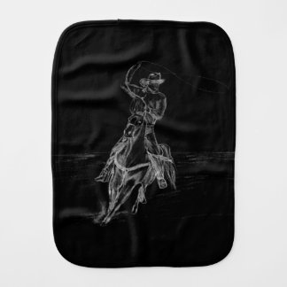 Cowboy Roping Burp Cloth