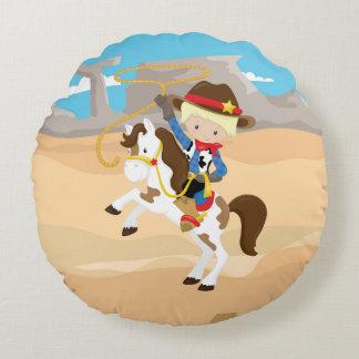 Cowboy Round Cushion