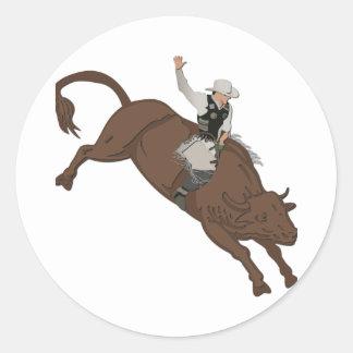Cowboy Round Sticker
