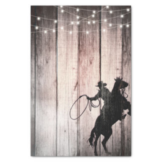 Cowboy Rustic Wood Barn Country Party Wild West Tissue Paper
