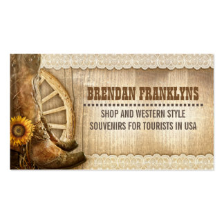 Cowboy Shoes Western Country Pack Of Standard Business Cards