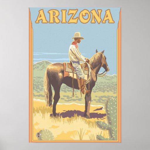 Cowboy (Side View)Arizona Posters