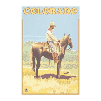 Cowboy (Side View)Colorado Gallery Wrap Canvas