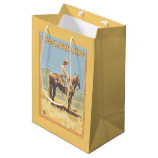 Cowboy (Side View)Colorado Medium Gift Bag