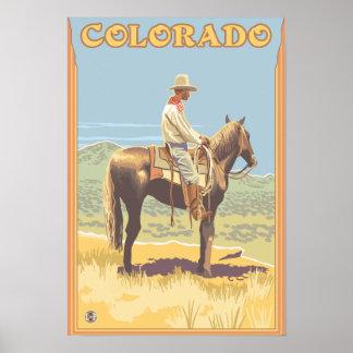 Cowboy (Side View)Colorado Poster