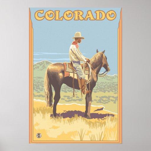 Cowboy (Side View)Colorado Print