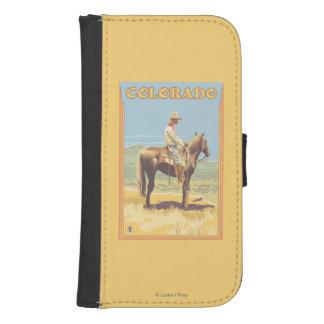 Cowboy (Side View)Colorado Samsung S4 Wallet Case