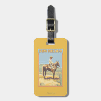Cowboy (Side View)New Mexico Luggage Tag