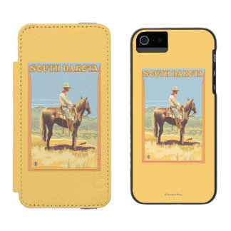 Cowboy (Side View)South Dakota Incipio Watson™ iPhone 5 Wallet Case