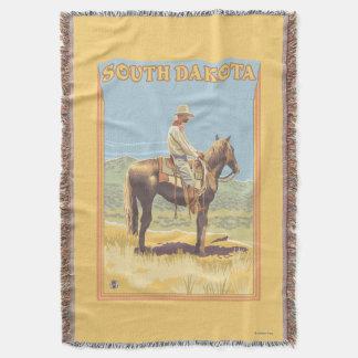 Cowboy (Side View)South Dakota Throw Blanket
