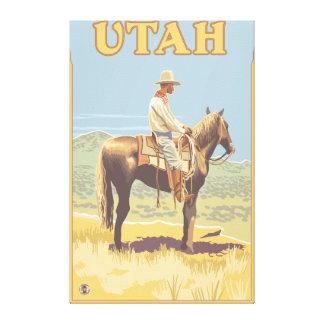 Cowboy (Side View)Utah Canvas Print