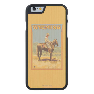 Cowboy (Side View)Wyoming Carved® Maple iPhone 6 Case