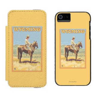 Cowboy (Side View)Wyoming Incipio Watson™ iPhone 5 Wallet Case
