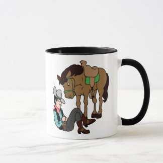 Cowboy Siesta Resting Horse Mug