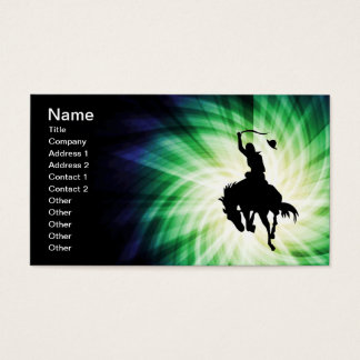 Cowboy Silhouette; Glowing Business Card