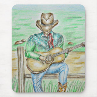 Cowboy Singer Mouse Pad