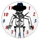 Cowboy Sketch Clock