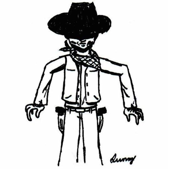 Cowboy Sketch Photo Sculpture Magnet
