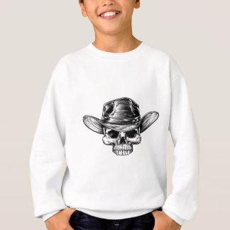 Cowboy Skull Hat Drawing Sweatshirt