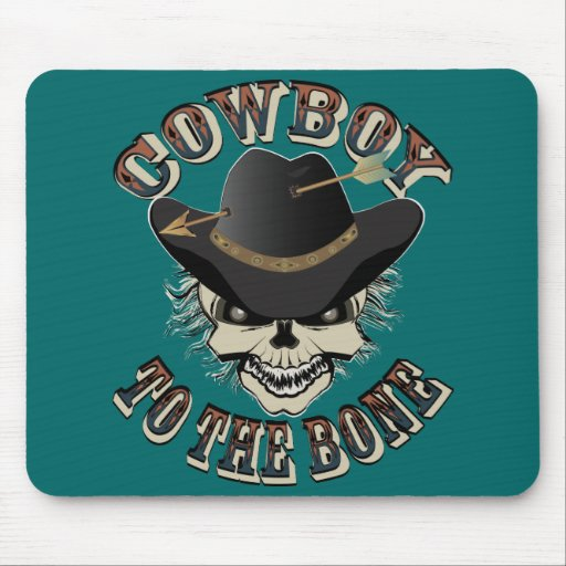 Cowboy Skull Mouse Pads