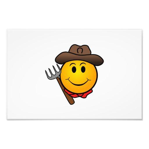 Cowboy smiley photographic print