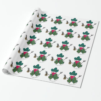 Cowboy Snowman Bandito with Money Bag Wrapping Paper