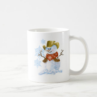Cowboy Snowman Christmas Coffee Cup