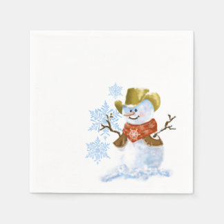 Cowboy Snowman Paper Napkin