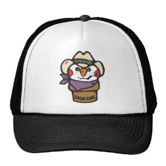Cowboy  Snowman Snow Cone Cap