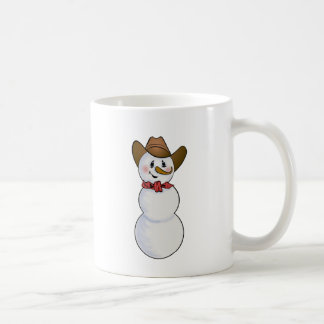 Cowboy Snowman with Red Bandana Coffee Mug