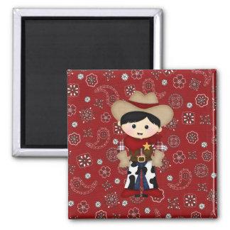 Cowboy Square Magnet