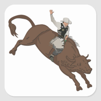 Cowboy Square Sticker