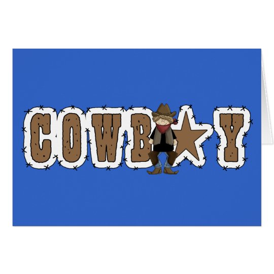 Cowboy Star - Western Blank Inside Everyday Card